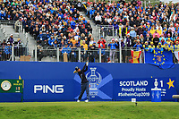 Danielle Kang (USA) on the 1st tee during Day 3 Singles at the Solheim Cup 2019, Gleneagles Golf CLub, Auchterarder, Perthshire, Scotland. 15/09/2019.<br /> Picture Thos Caffrey / Golffile.ie<br /> <br /> All photo usage must carry mandatory copyright credit (© Golffile | Thos Caffrey)
