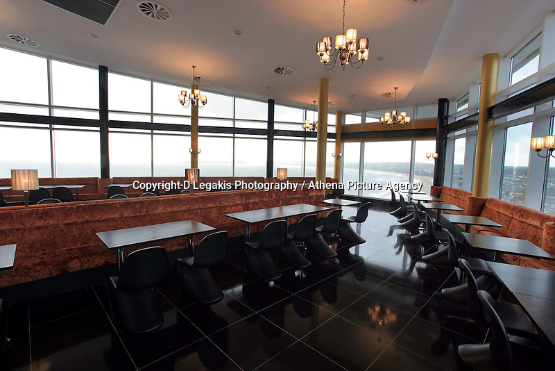 Pictured: Interior view of the restaurant<br /> Re: The new Penthouse restaurant on the top three levels of Meridian Quay, the highest building in Wales situated in Swansea Marina. Wednesday 25 November 2009<br /> Picture by D Legakis Photography / Athena Picture Agency, 24 Belgrave Court, Swansea, SA1 4PY, 07815441513