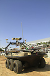 Amstaf 6, unmanned vehicle made by Automotive Robotic Industry at the AUS&R (Autonomous, Unmanned Systems & Robotics) 2013 Expo conference and exhibition in Rishon Letzion