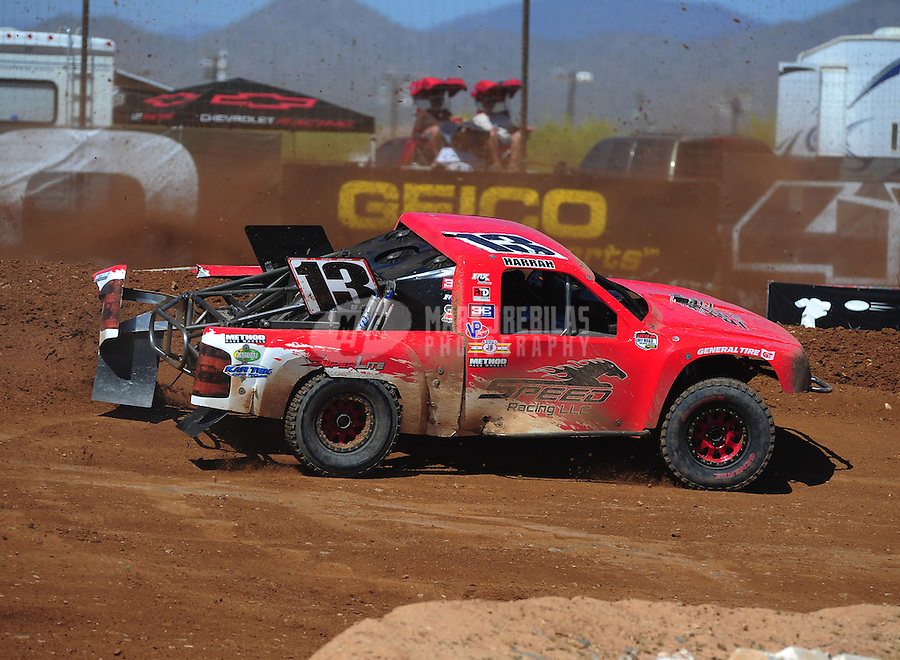 Apr 16, 2011; Surprise, AZ USA; LOORRS driver John Harrah (13) during round 3 at Speedworld Off Road Park. Mandatory Credit: Mark J. Rebilas-.
