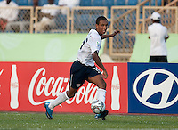 Juan Agudelo makes a pass. US Under-17 Men's National Team defeated United Arab Emirates 1-0 at Gateway International  Stadium in Ijebu-Ode, Nigeria on November 1, 2009.