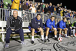 30 October 2010: Puerto Rico head coach Colin Clarke (left) with assistants. The Puerto Rico Islanders won the 2010 USSF-D2 championship 3-1 on aggregate goals after playing the Carolina RailHawks to a 1-1 tie in the second leg of the Finals in a game played at WakeMed Stadium in Cary, North Carolina.