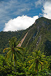 Emensiri mountains over Lobo Village, Triton Bay, Papua.