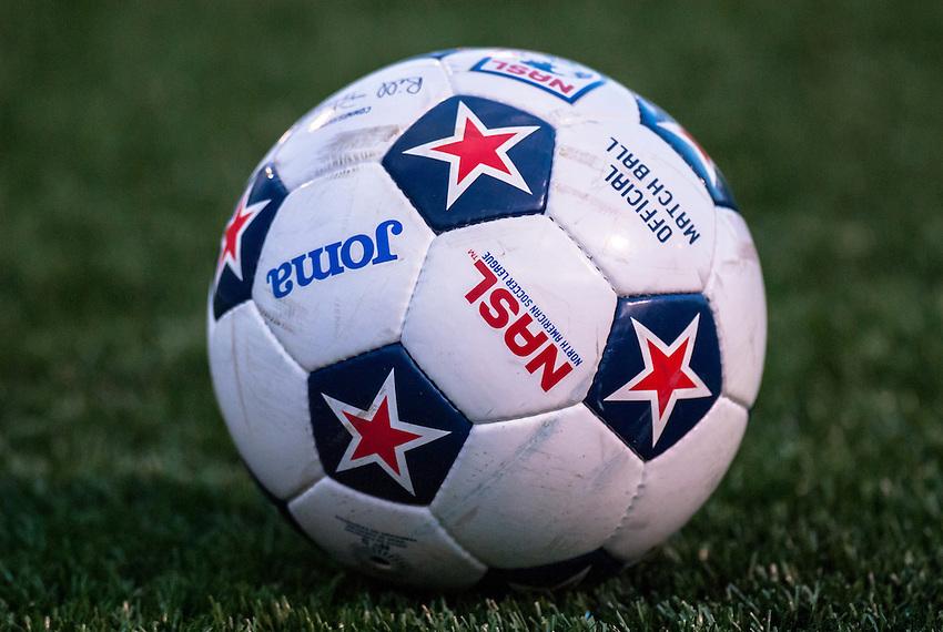 HEMPSTEAD, NY - SEPTEMBER 8: The New York Cosmos host the Atlanta Silverbacks in an NASL soccer match at Hofstra University's Shuart Stadium on September 7, 2013 in Hempstead, NY.