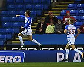 31st October 2017, Madejski Stadium, Reading, England; EFL Championship football, Reading versus Nottingham Forest; John Swift of Reading celebrates scoring his sides first goal of the evening