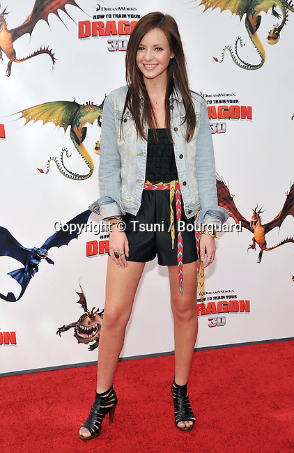 Samantha Droke _23 - <br /> How To Train Your Dragon premiere at the Universal Amphitheatre In Los Angeles.