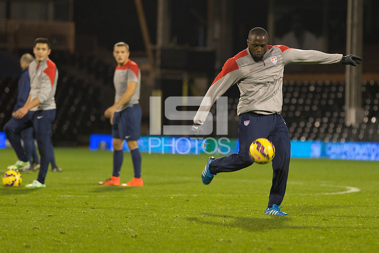 London, UK. - Thursday, November 13, 2014: U.S. Men's National Team Training at Fulham's Craven Cottage.