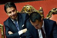 Giuseppe Conte and Luigi Di Maio<br /> Rome September 10th 2019. Senate. Discussion and Trust vote at the new Government. <br /> Foto  Samantha Zucchi Insidefoto