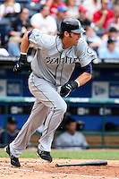Mariners first baseman Richie Sexson bats against the Royals at Kauffman Stadium in Kansas City, Missouri on May 27, 2007.  Seattle won 7-4.
