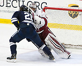 John Hayden (Yale - 21), Merrick Madsen (Harvard - 31) - The Harvard University Crimson defeated the Yale University Bulldogs 6-4 in the opening game of their ECAC quarterfinal series on Friday, March 10, 2017, at Bright-Landry Hockey Center in Boston, Massachusetts.