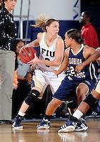 Florida International University guard Zsofia Labady (3) plays against Florida Atlantic University which won the game 50-49 on January 21, 2012 at Miami, Florida. .
