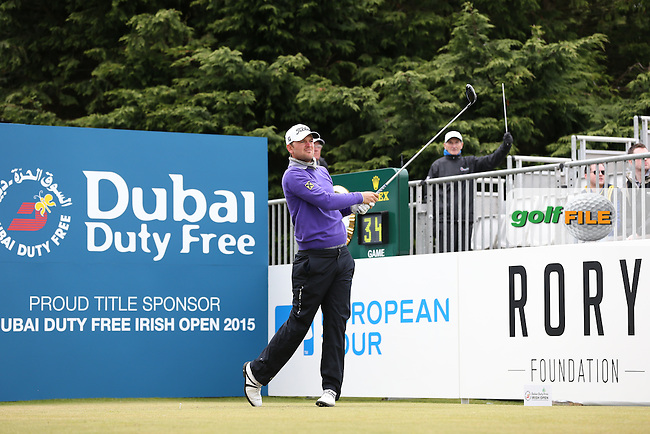 Bernd Wiesberger (AUT) begins Round Three of the 2015 Dubai Duty Free Irish Open Hosted by The Rory Foundation at Royal County Down Golf Club, Newcastle County Down, Northern Ireland. 30/05/2015. Picture David Lloyd | www.golffile.ie