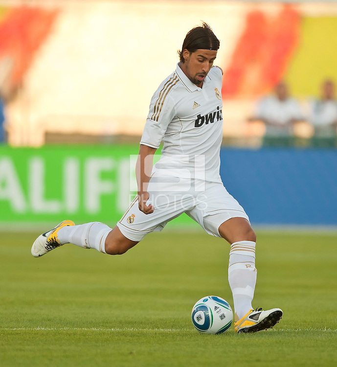 LOS ANGELES, CA – July 16, 2011: Sami Khedira (6) of Real Madrid  during the match between LA Galaxy and Real Madrid at the Los Angeles Memorial Coliseum in Los Angeles, California. Final score Real Madrid 4, LA Galaxy 1.