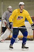 AJ Jenks (USA - 22) - Team USA practiced at the Agriplace rink on Monday, December 28, 2009, in Saskatoon, Saskatchewan, during the 2010 World Juniors tournament.