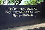Museum sign Sigiriya, Central Province, Sri Lanka, Asia