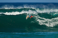 HONOLULU, Oahu, Sunset Beach. - (Friday, November 30, 2012) Nat Young (USA).  -- There were all-time conditions at Sunset Beach today held the promise of a day that will go down in VANS World Cup of Surfing history. Wave face heights were at 10-15 feet for most of the day..Hitting the waves today were surfers such as: Tanner & Dane Gudauskas (USA); Joan Duru (FRA); Nat Young (Ca., USA); Mark Occhilupo (AUS); Willian Cardoso (BRA); and 58 other surfers in the round of 96. .The second jewel of the $1M VANS Triple Crown of Surfing, the VANS World Cup will require four full days of competition between now and December 6...Winner of the first jewel - the REEF Hawaiian Pro - last week was Sebastian Zietz (HAW). Zietz is seeded through to the round of 64 and will surf on Day 3 of the competition..  Photo: joliphotos.com