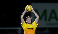 Danny Rowe of Wycombe Wanderers takes a throw in during the Sky Bet League 2 rearranged match between Bristol Rovers and Wycombe Wanderers at the Memorial Stadium, Bristol, England on 1 December 2015. Photo by Andy Rowland.