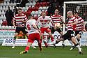 James Dunne of Stevenage shoots over. Stevenage v Doncaster Rovers - npower League 1 -  Lamex Stadium, Stevenage - 12th January, 2013. © Kevin Coleman 2013.