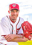 28 February 2016: Washington Nationals pitcher Sean Burnett poses for his Spring Training Photo-Day portrait at Space Coast Stadium in Viera, Florida. Mandatory Credit: Ed Wolfstein Photo *** RAW (NEF) Image File Available ***