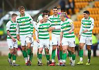 1st March 2020; McDairmid Park, Perth, Perth and Kinross, Scotland; Scottish Premiership Football, St Johnstone versus Celtic; Nir Bitton Callum McGregor and Scott Brown of Celtic celebrate after the match