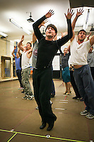 "Daniel Radcliffe in ""How To Succeed in Business Without Really Trying"" in  rehearsal studio.  New 42nd Street Studios.  Photo by Ari Mintz.  2/8/2011."