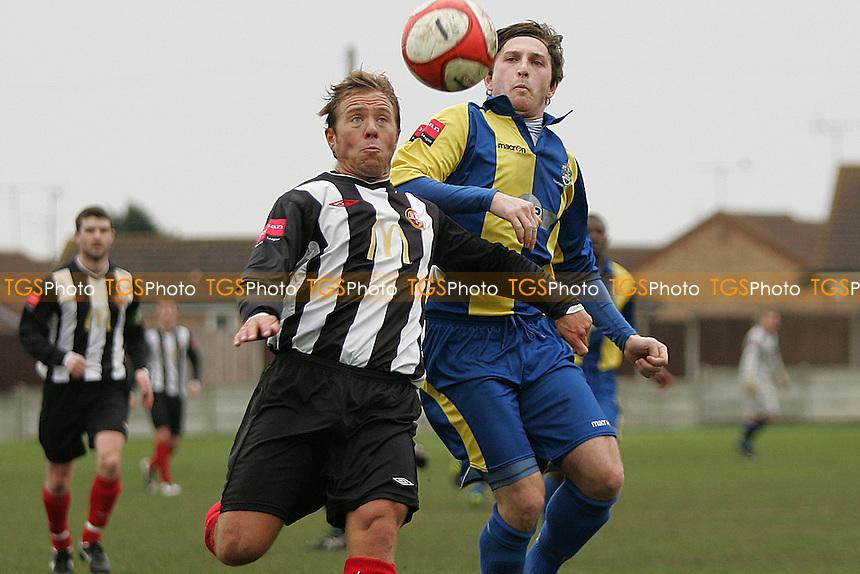 Petrit Elbit (Romford) and Donavan Wilson (Tilbury)- Romford vs Tilbury - Ryman League Division One North Football at Mill Field - 05/03/11 - MANDATORY CREDIT: George Phillipou/TGSPHOTO - Self billing applies where appropriate - 0845 094 6026 - contact@tgsphoto.co.uk - NO UNPAID USE.