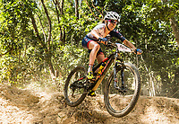 Picture by Alex Broadway/SWpix.com - 07/09/17 - Cycling - UCI 2017 Mountain Bike World Championships - XCO - Cairns, Australia - Sophie Wright of Great Britain competes in the Women's Junior World Championship Race.