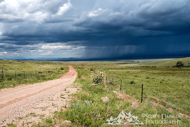 Summer thunderstorm rolling through the Wet Mountain Valley near Westcliffe, Colorado.