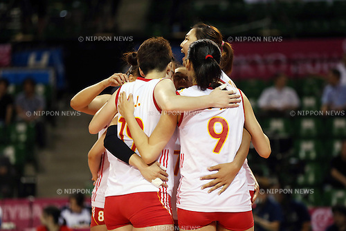 China Women's Volleyball team group (CHN),<br /> AUGUST 24, 2014 - Volleyball : FIVB World Grand Prix 2014 final round match between China 2-3 Russia at  Ariake Coliseum, Tokyo, Japan. (Photo by AFLO SPORT)