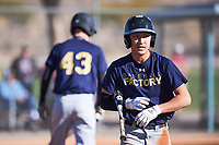 Daniel Wright (44), from East Wenatchee, Washington, while playing for the Padres during the Under Armour Baseball Factory Recruiting Classic at Red Mountain Baseball Complex on December 29, 2017 in Mesa, Arizona. (Zachary Lucy/Four Seam Images)