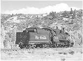 3/4 rear engineer's-side view of D&amp;RGW #360 at Sapinero, CO.<br /> D&amp;RGW  Sapinero, CO  Taken by Richardson, Robert W. - 9/19/1948