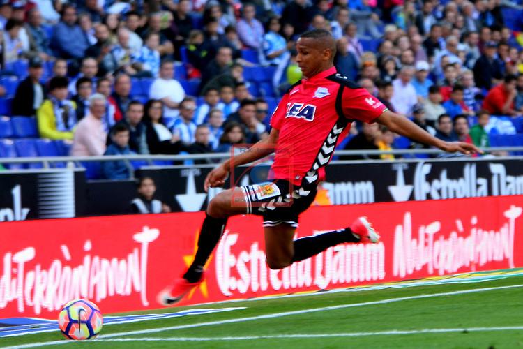 League Santander 2016/2017. Game: 31.<br /> RCD Espanyol vs Deportivo Alaves: 1-0.<br /> Deyverson.