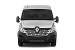 Car photography straight front view of a 2015 Renault MASTER GRAND CONFORT 4 Door Cargo Van Front View