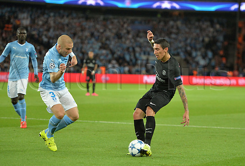 15.09.2015. Paris, France. UEFA Champions League football. Paris St Germain versus Malmo.  Angel Di Maria (psg) with a shot on goal