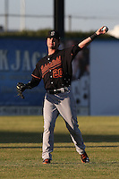 Jesse Winkler #23 of the Bakersfield Blaze during a game against the Lancaster JetHawks at The Hanger on May 13, 2014 in Lancaster California. Lancaster defeated Bakersfield, 1-0. (Larry Goren/Four Seam Images)