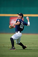 Trey Higgins (22) of Oxford High School in Oxford, AL during the Perfect Game National Showcase at Hoover Metropolitan Stadium on June 18, 2020 in Hoover, Alabama. (Mike Janes/Four Seam Images)