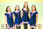 Hayley O'Mahony, Lauren Reddy, Aoife O'Donnell and Erin Maher from Ballyduff  at the Listowel Fleadh Ceoil Munster Junior Set and Ceilí Dancing Finals  St Michaels Gym Hall, Listowel on Friday