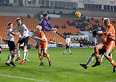 04/12/2018 FA Youth Cup 3rd Round Blackpool v Derby County<br /> <br /> Bradley Foster-Theniger punches the ball away from Harry Winstanley