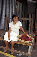 Woman selling fruit in the Mercado Municipal, Masaya, Nicaragua