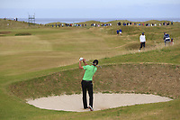 Marcel Siem (GER) plays his 2nd shot from a fairway bunker on the 15th hole during Friday's Round 2 of the 2018 Dubai Duty Free Irish Open, held at Ballyliffin Golf Club, Ireland. 6th July 2018.<br /> Picture: Eoin Clarke | Golffile<br /> <br /> <br /> All photos usage must carry mandatory copyright credit (&copy; Golffile | Eoin Clarke)