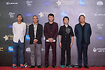 She Huan, Tian Yusheng, and Ding Ding walk the Red Carpet event at the World Celebrity Pro-Am 2016 Mission Hills China Golf Tournament on 20 October 2016, in Haikou, China. Photo by Marcio Machado / Power Sport Images