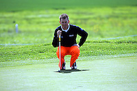 Peter Gustafsson lines up his putt on the 8th green during the third round of the Irish Open on 19th of May 2007 at the Adare Manor Hotel & Golf Resort, Co. Limerick, Ireland. (Photo by Eoin Clarke/NEWSFILE)..