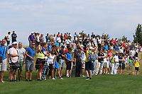 Part of the crowd along the 1st fairway during Round 1 of the D+D Real Czech Masters at the Albatross Golf Resort, Prague, Czech Rep. 31/08/2017<br /> Picture: Golffile | Thos Caffrey<br /> <br /> <br /> All photo usage must carry mandatory copyright credit     (&copy; Golffile | Thos Caffrey)