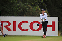 Cristie Kerr (USA) on the 3rd tee during Round 2 of the Ricoh Women's British Open at Royal Lytham &amp; St. Annes on Friday 3rd August 2018.<br /> Picture:  Thos Caffrey / Golffile<br /> <br /> All photo usage must carry mandatory copyright credit (&copy; Golffile | Thos Caffrey)