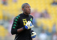 COLUMBUS, OHIO - SEPTEMBER 11, 2012:  Dwayne Miller (13) of  Jamaica during a CONCACAF 2014 World Cup qualifying  match against the USA at Crew Stadium, in Columbus, Ohio on September 11. USA won 1-0.
