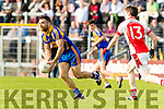 Dara Crowley Kenmare in action against  Rathmore in the Senior County Football Semi Final in Fitzgerald Stadium on Sunday.