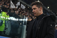 Diego Simeone coach of Atletico Madrid looks on ahead the Uefa Champions League 2018/2019 round of 16 second leg football match between Juventus and Atletico Madrid at Juventus stadium, Turin, March, 12, 2019 <br />  Foto Andrea Staccioli / Insidefoto