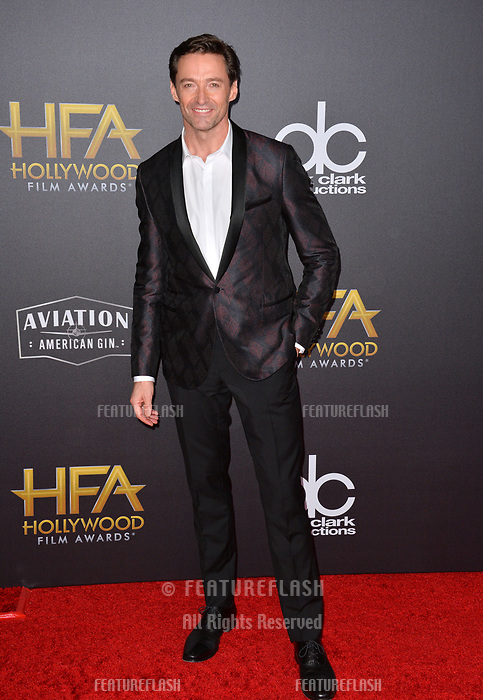 LOS ANGELES, CA. November 04, 2018: Hugh Jackman at the 22nd Annual Hollywood Film Awards at the Beverly Hilton Hotel.<br /> Picture: Paul Smith/Featureflash