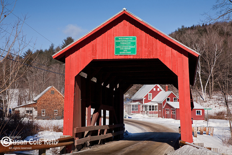 Upper Cox Brook covered bridge, Northfield Falls, VT, USA