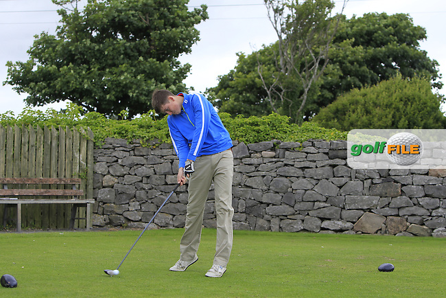 Tom Armstrong (Co. Sligo) on the 1st tee during R2 of the 2016 Connacht U18 Boys Open, played at Galway Golf Club, Galway, Galway, Ireland. 06/07/2016. <br /> Picture: Thos Caffrey | Golffile<br /> <br /> All photos usage must carry mandatory copyright credit   (&copy; Golffile | Thos Caffrey)